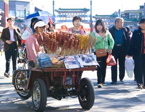 Vendor outside Qianmen