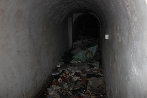 Unfortunately, parts of this bomb shelter -- though a small part -- now look like this.