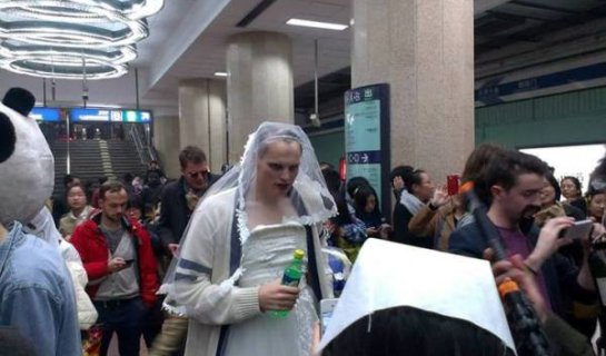 Beijing Says 'Boo' to Halloween Costumes on the Subway