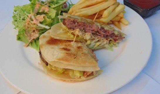 Grilled: Luga's Classic and Quesadilla Burgers