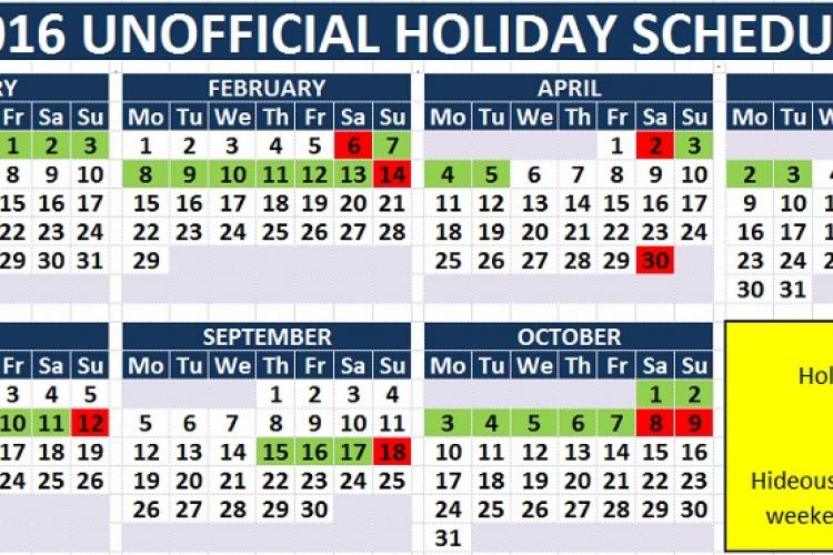 Unofficial 2016 China Holiday Schedule Making Online Rounds, but Too ...