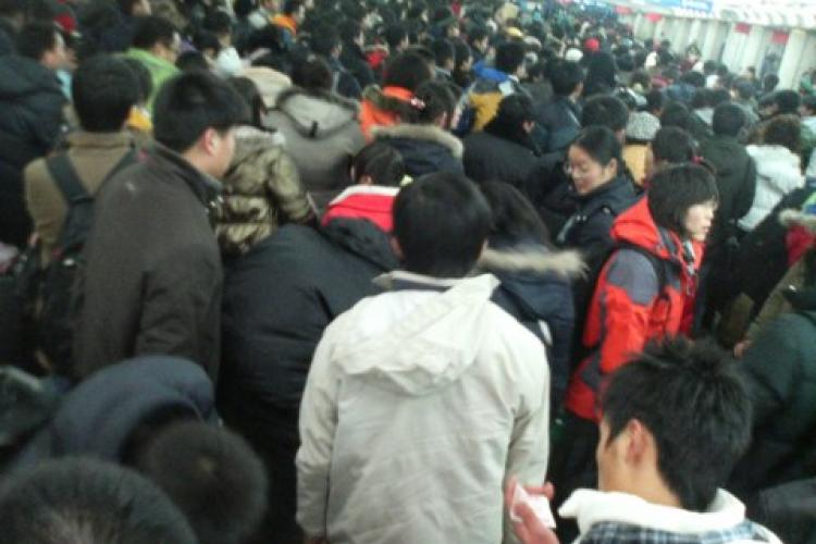 Leaving from Beijing West Railway Station two days before Spring Festival's Eve