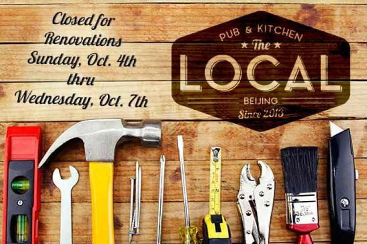 The Local to Renovate October 4-7
