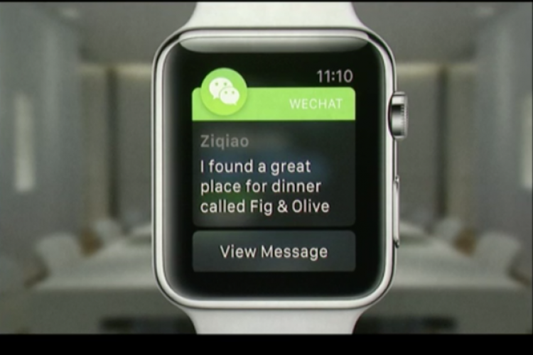 WeChat Makes Prominent Cameo in Apple Watch Presentation