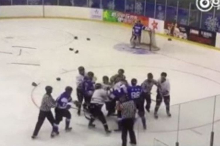 R Chinese Public Outraged After Fight Breaks Out at Hockey Game