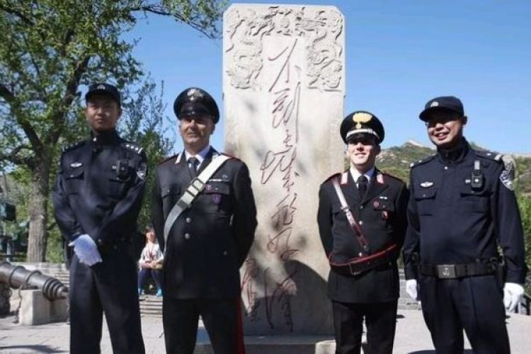 R Italian Police Officers to Patrol Top Beijing Tourist Destinations