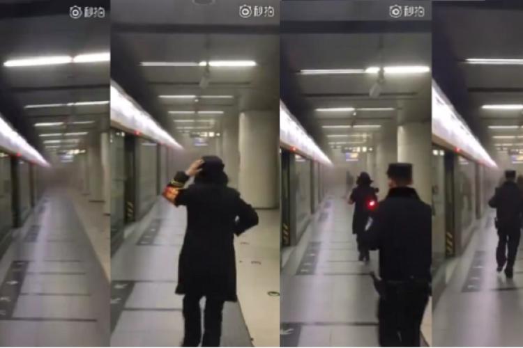 Passengers Evacuated as Smoke Emitted on Beijing Subway During Morning Rush