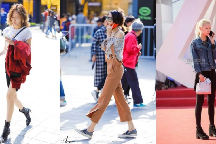 Sanlitun Street Fashions: Miniskirts on the Rise This Spring