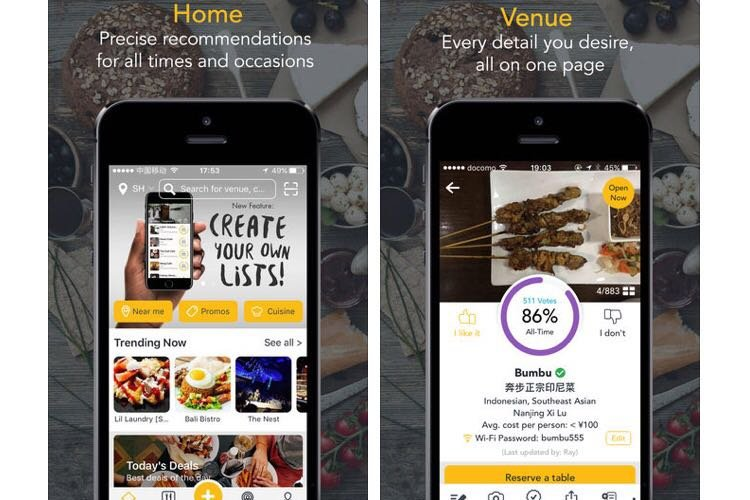 Bon App, Asia's Restaurant Recommendation and Review App, Comes to Beijing