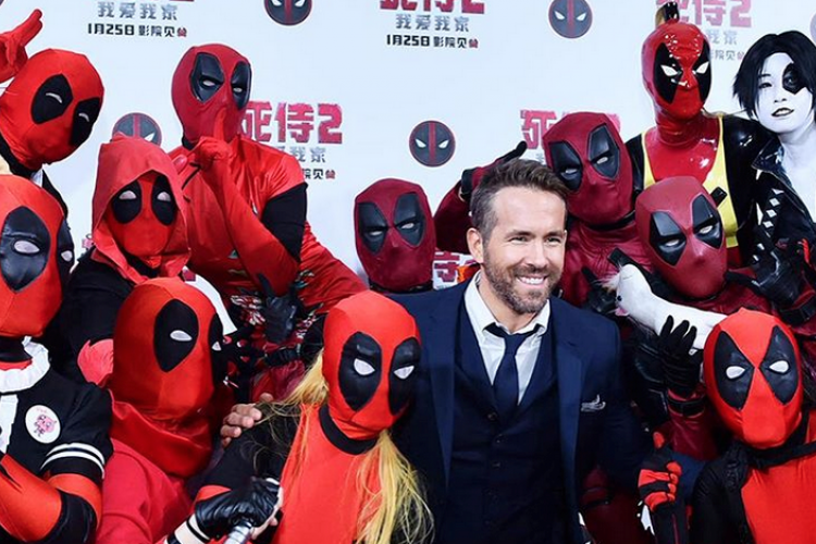 Ryan Reynolds Spotted in Beijing Ahead of the Release of Deadpool's Censored Escapades