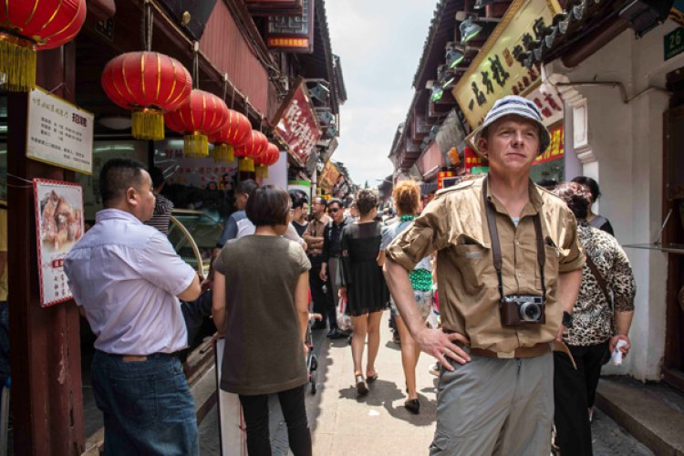 Simon Pegg Begins His China Invasion, Monty Python Crew in Tow