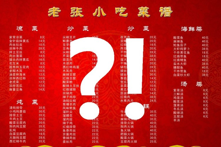 Mandarin Monday: How to Order From a Chinese Menu Using Chinese Characters