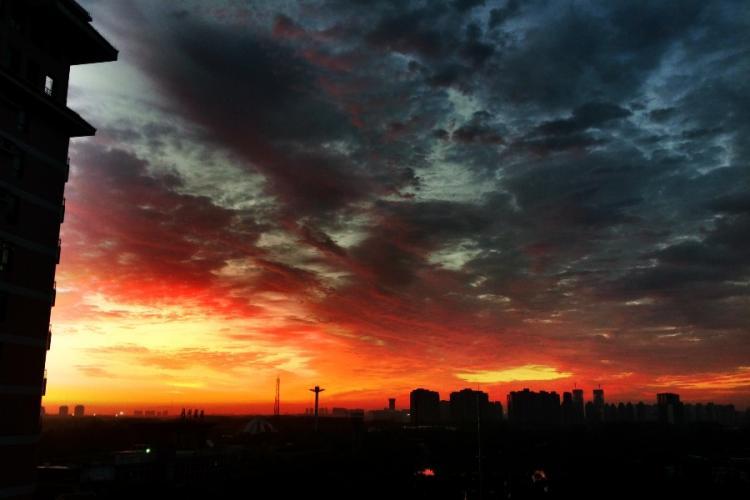 A Lush Sunset Captured Over Beijing