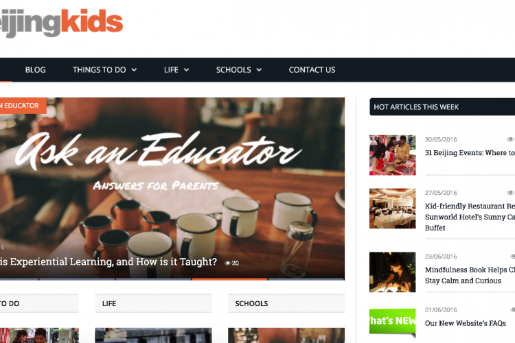 Fresh New Look For Our Sister Site Beijingkids