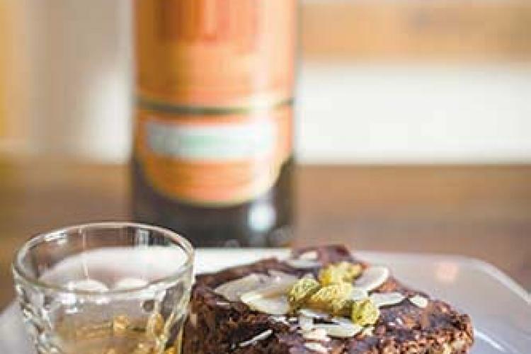 Just Desserts: Cu Ju's Rum-Soaked Brownie