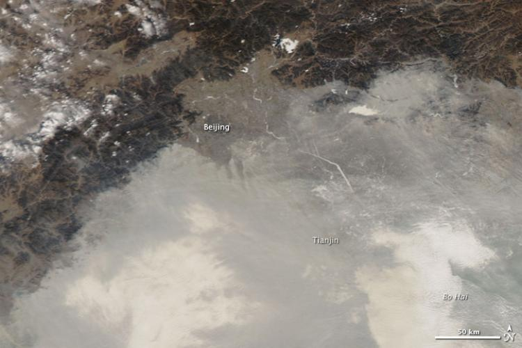 Beijing's Pollution is so Bad, It Can Be Seen From Space