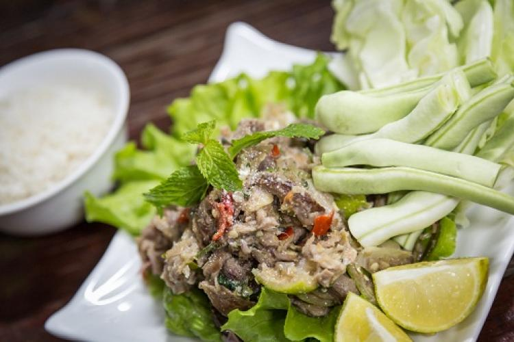 Let's Do Lunch: Chef Jun Trinh's Flavorful Beef Larp