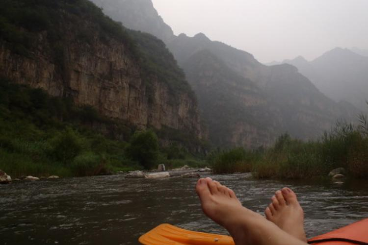 Rolling Down a River on the Outskirts of Beijing