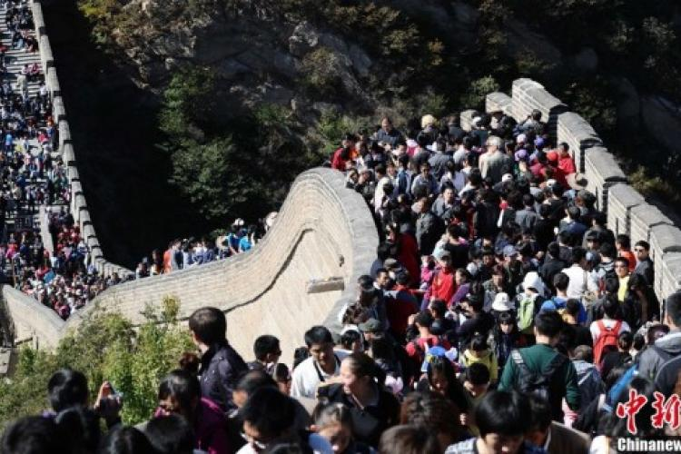 Crowds Descend on Beijing During the October Holiday