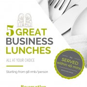 5 Great Business Lunches