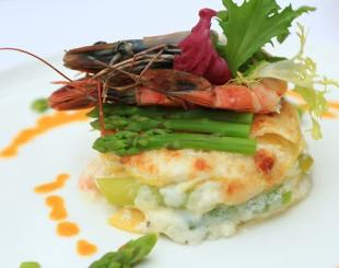Let's Do Lunch: Asparagus and Shrimp Lasagna