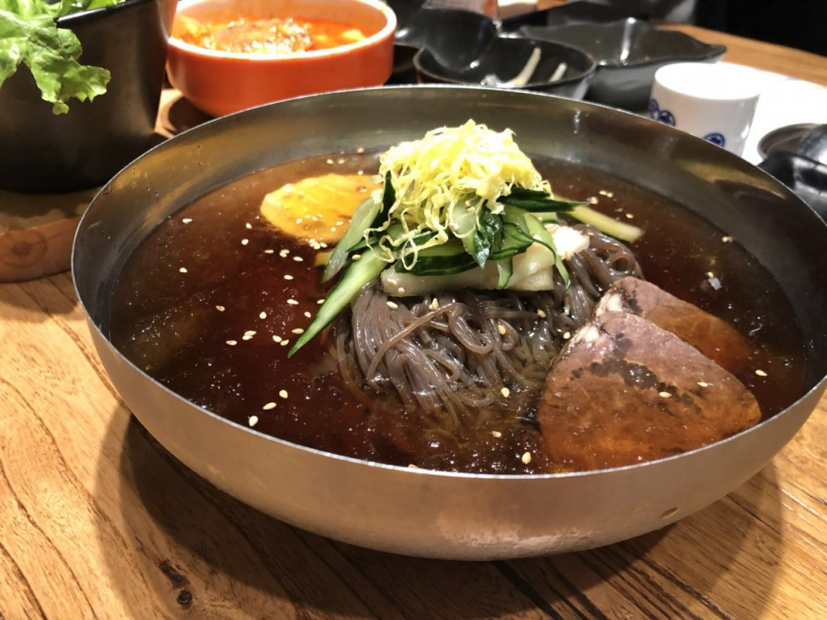 superior beef korean barbecue and cold noodles at