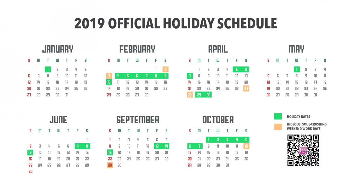Calendar China 2019 China's Official 2019 Holiday Calendar Finally Announced! | the