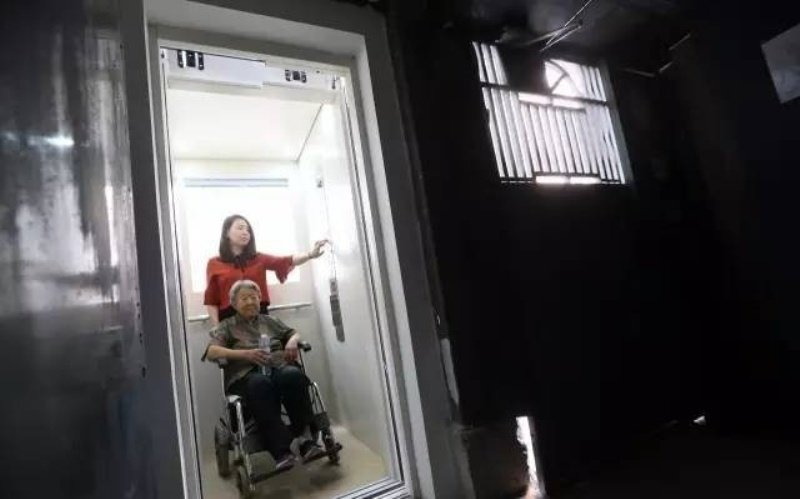 first private elevator installed for beijing walkup