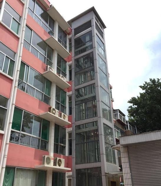 round residential elevator first private elevator installed for beijing walkup apartment to