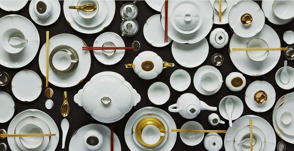 LEGLE FRANCE RUYI Collectionu0027s Tableware Line Combines Traditional Chinese  Porcelain Designs With Contemporary Elements