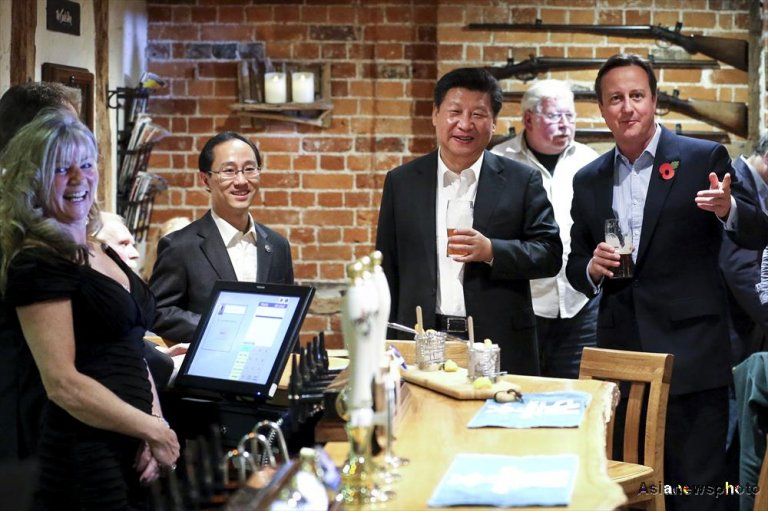 Image result for president xi jinping fish and chips