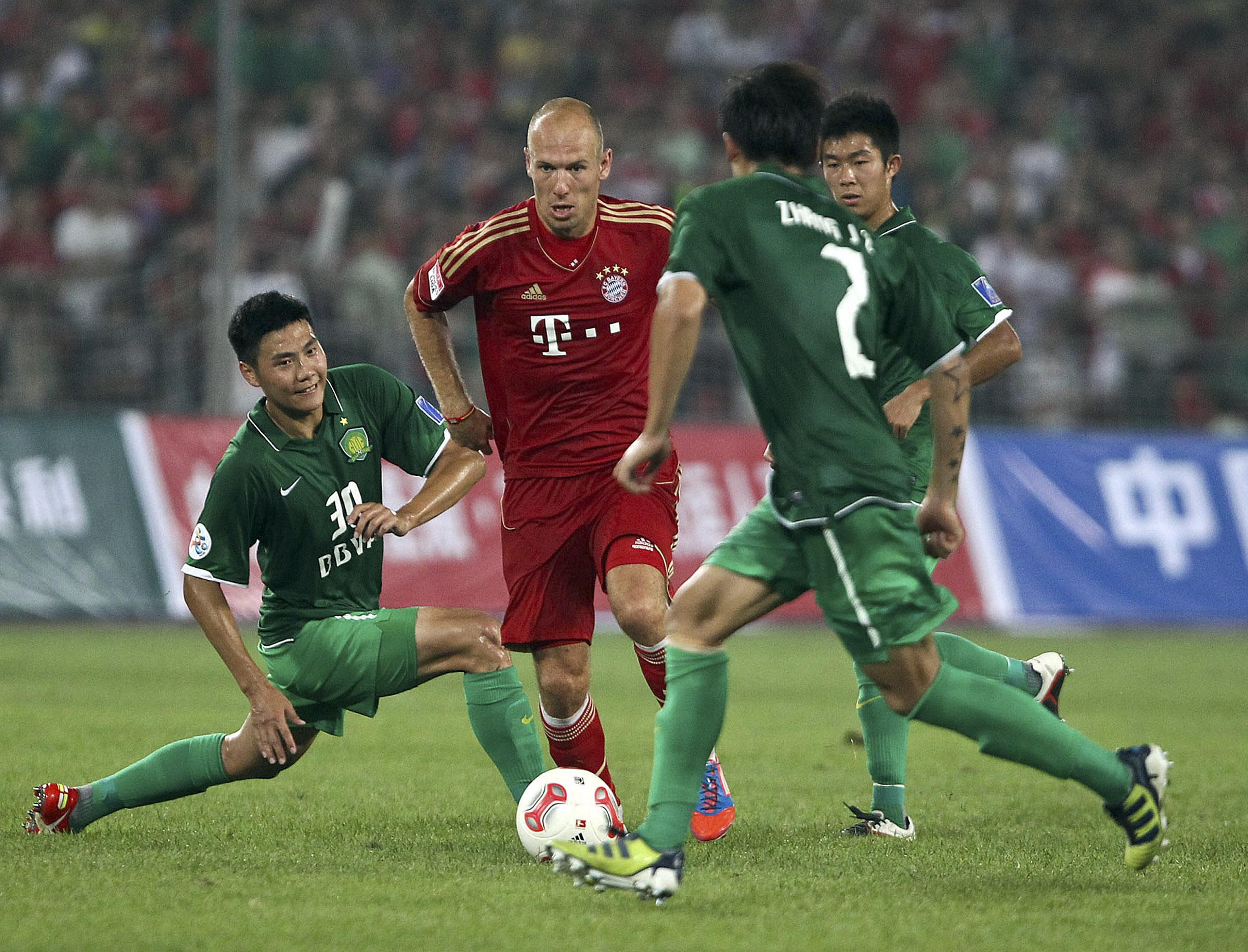 Bayern Munich Arrives in Beijing, Plays at Bird's Nest Saturday Night