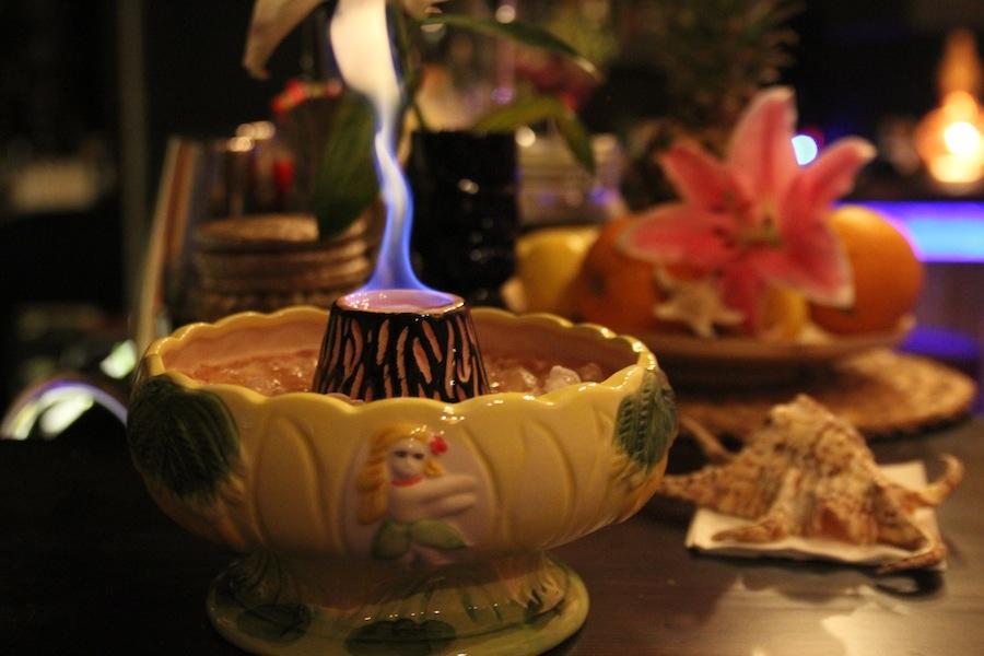 Volcano Bowls are Erupting at Bungalow Tiki