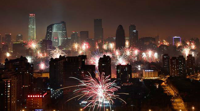 Got a Minute? Incredible Aerial Video of Beijing on New Year's Eve