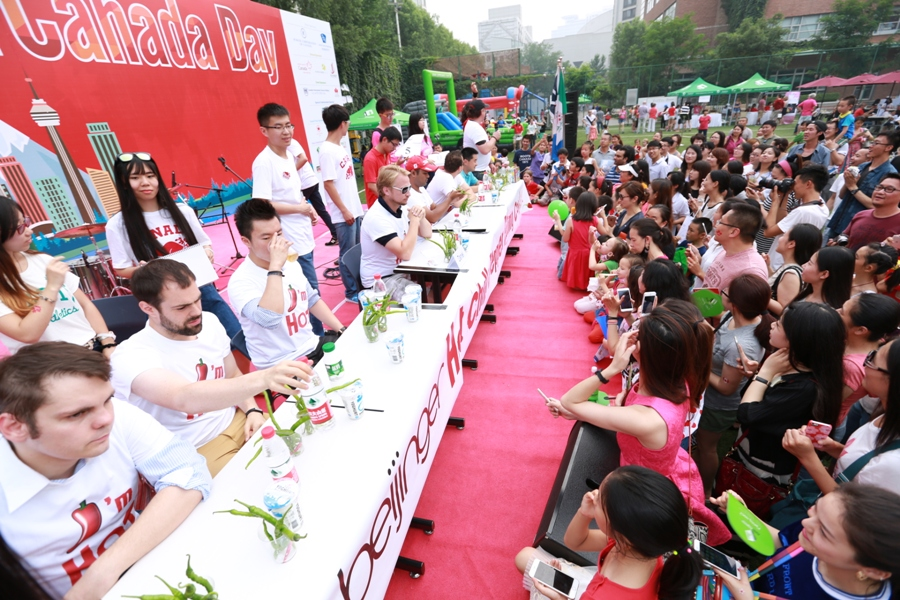In Pictures: Canada Day and the Beijinger's Annual Chili Eating Competition