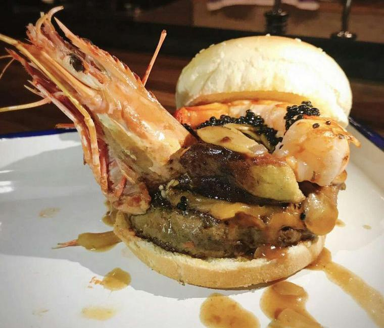 Burger Brief: Wow Your Palate With The Granary Bar and  Bistro's Gourmet Prawn-Topped Burger
