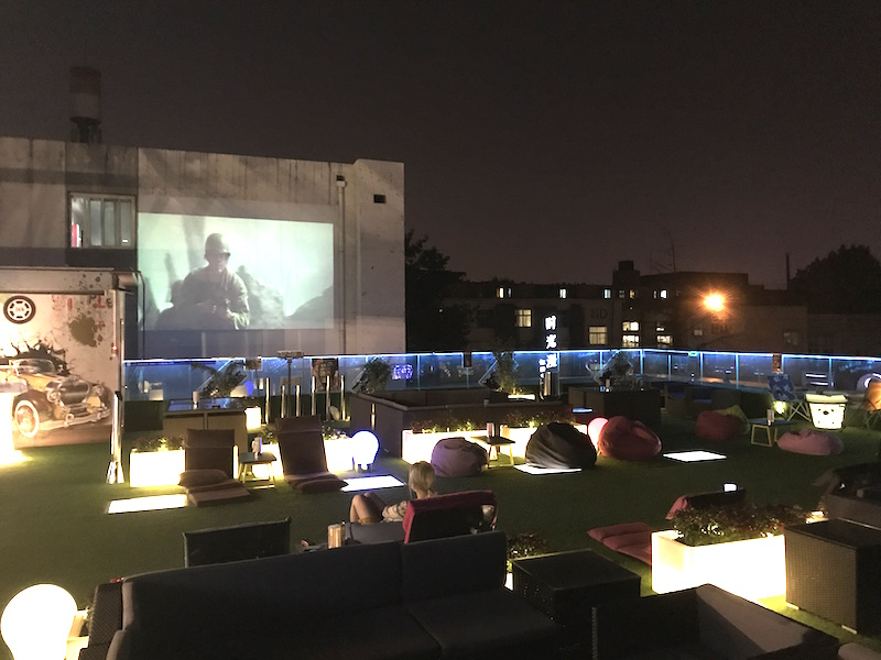 Watch movies under the stars at this new fangjia hutong for Movies at the terrace