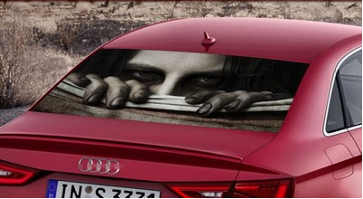 Five Spooky Taobao Rear Window Stickers to Help You Horrify Beijing's Drivers