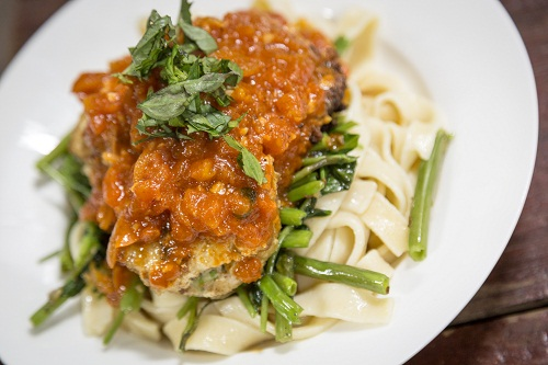 Let's Do Lunch: Jun Trinh's Spiced Fish Cake Pasta