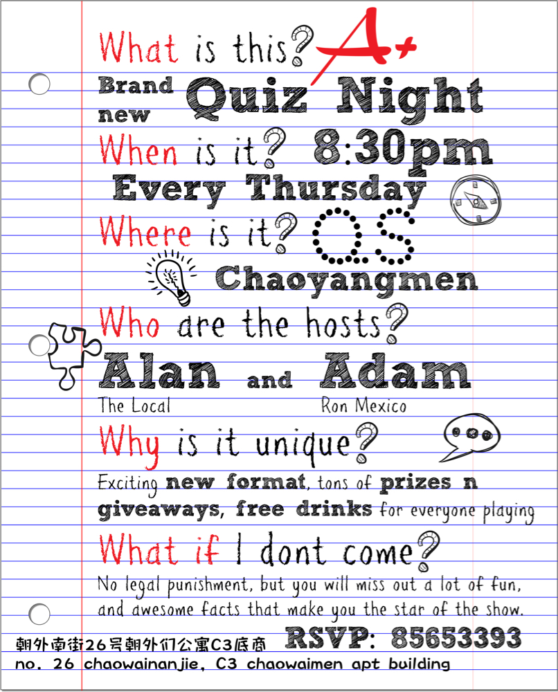Thursday Quiz Night at Qs Chaoyangmen | the Beijinger