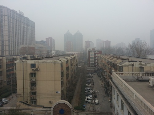 The beautiful grey skyline visible from theBeijinger offices.