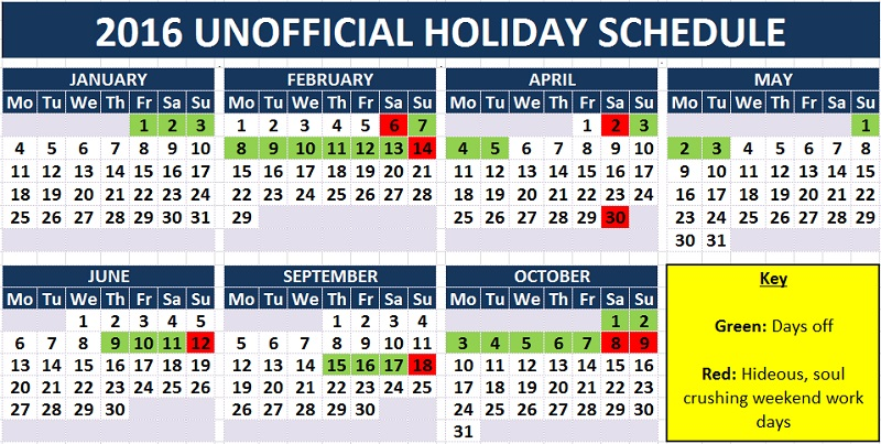 hit or miss the unofficial 2016 holiday calendar beijingkids